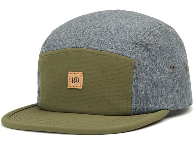 tentree Athleisure Hat olive night green/dark grey heather